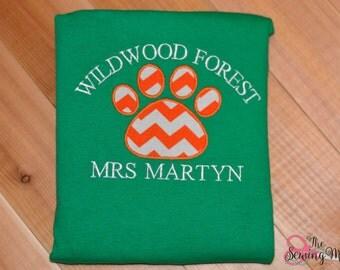 School Spirit Wear-Wildwood Forest-Custom Made