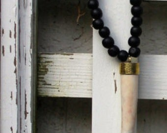 Black Horn Necklace