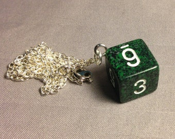 Green speckled D6