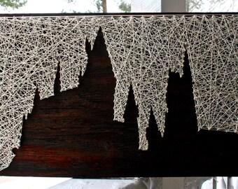 "Harry Potter String Art/ ""Hogwarts is My Home""/ Hogwarts String Art/ Harry Potter Art"