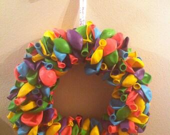 Birthday Balloon Wreath - Party decoration for boy, girl, mom or dad!