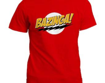 Bazinga Funny Novelty T-Shirt / TV Show Inspired Gift Tee Top