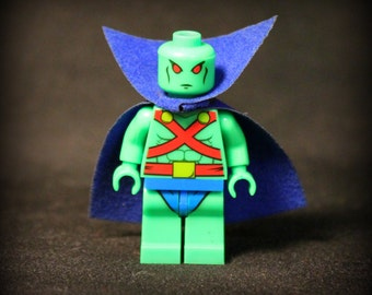 Martian Manhunter from The Justice League. Custom Minifigure. Lego Compatible.