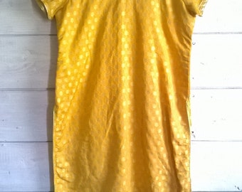 Metallic Golden Yellow Indian Tunic