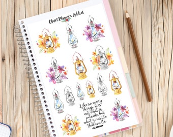 Watercolour Magic Lamps Planner Stickers (S-147)