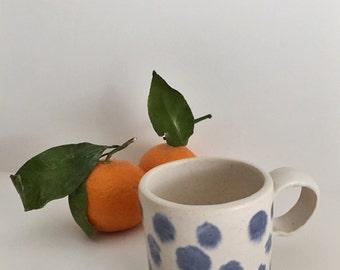 Dancing Blue Dots Mug # 1