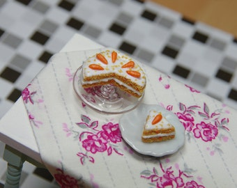 SALE 1/12 full scale carrot cake for your Dolls House