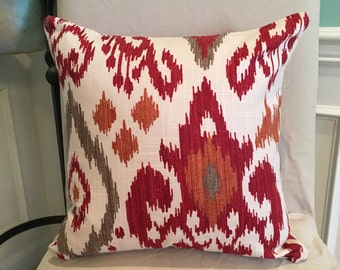 "16"" Ikat pillow"