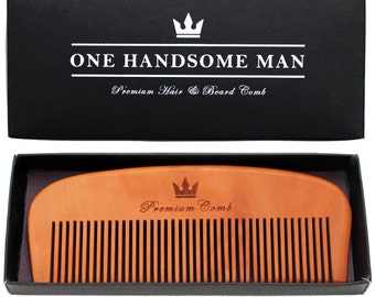 Premium Hair and Beard Comb - Quality pear-wood with elegant gift box. Fast USA shipping!