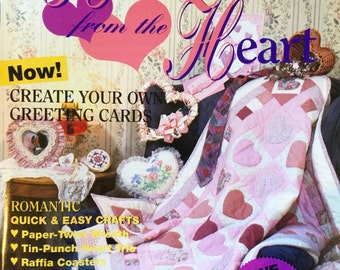 Handcrafts From the Heart Magazine - 1991 - House of White Birches Special Issue - 30 Craft Projects