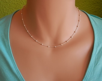 Sterling silver choker necklace layering choker thin necklace statement choker dainty choker delicate choker delicate silver choker layer