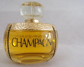 Fake perfume bottle Champagne Yves Saint Laurent Paris fragrance collection couture vintage France vintagefr