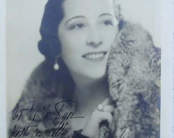 Vintage Large Signed Photographic Portrait of a Beautiful Lady, Mystery Woman, Movie Star, Model or Socialite?