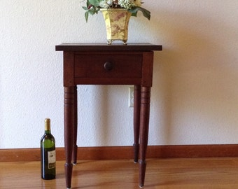 Antique Side Table, Vintage Table, Wood Table, End Table, Hall Table