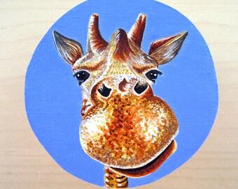 Painted Giraffe Box, Painted Jewellery Box, Painted Jewelry Box, Treasure Box, Wooden Gift Box, Giraffe Box, Keepsake Box, Hand Painted Box