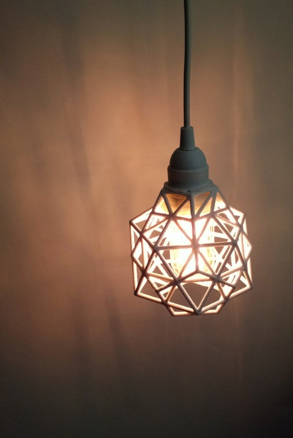 pendant pendant light plug in 3d printed industrial. Black Bedroom Furniture Sets. Home Design Ideas