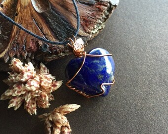 Lapis Lazuli and Herkimer Diamond Necklace