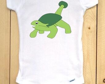 Dinosaur Onesie/ Ankleosaurus Baby Bodysuit/ Dinosaur Baby Clothing/ Dinosaur Vector Illustration/ Ankleosaurus Graphic on White Onesie