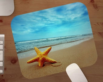 mouse pad,beach scene,mouse pads,beach life,mousepads,beach,custom mouse pad,life's a beach gift under 20,christmas gift,stocking stuffer