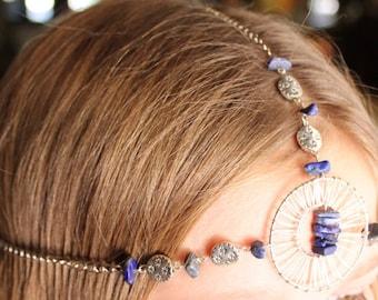 Lapis Lazuli Goddess Head Chain