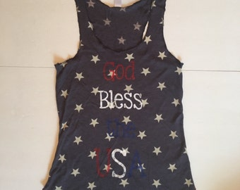 God Bless the USA Stars Tank