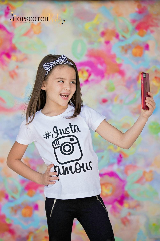Insta Famous Selfie Shirt Instagram Tee Girls Clothing