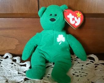 NEW PRICE! Erin the St. Patrick's Day Teenie Beanie, Ty for McDonald's, Miniature Beanie Baby, St. Patrick's Day Decor,