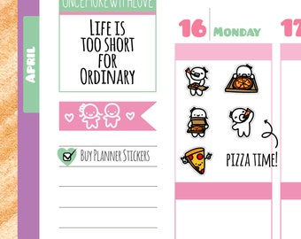 Munchkins - Pizza Time Planner Stickers (M168)
