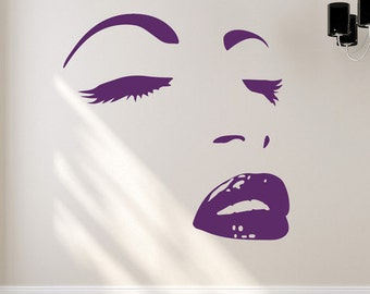 Posing Girl Vinyl Wall Decal