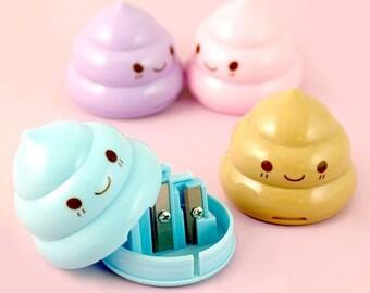 Cute Kawaii Poop Sharpeners / Kawaii Pencil Sharpeners / Cute Pencil Sharpeners / Cute Stationery / Kawaii Stationery / Cute School Supplies