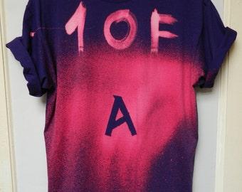 Tie Dye T-Shirt acid wash T-shirt hipster Retro 90s dip dye Purple men women unisex Galaxy top