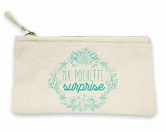 "Pouch ""Surprise""! Pouch for women, gift MOM, mother gift, pouch for mother, MOM, pouch makeup bag"
