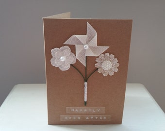 Bouquet Wedding Card