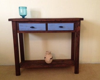 Rustic Solid Wood Console |Handmade Sofa Table | Solid Wood Farmhouse Sofa Table | Entryway Table | Buffet Table | Rustic Sofa Table