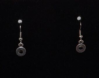 Simple Black Flower Earrings, Everyday Earrings, Minimalist Earrings, Modern Earrings, Dangle Earrings, Small Earrings, Gift for Her, gothic
