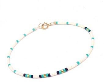 Delicate friendship Bracelet Bead Layering Bracelet Delicate bracelet Teal Bracelet