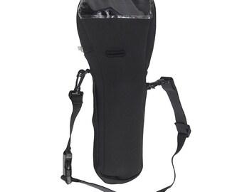 Black oxygen cylinder carrier bag