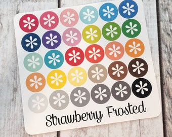 Asterisk----Multicolor Icon Labels---Planner Stickers