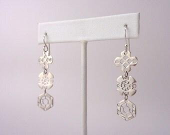Silver Shape Dangle and Drop Earrings