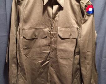 U.S Army 1950's Tan Service Shirt