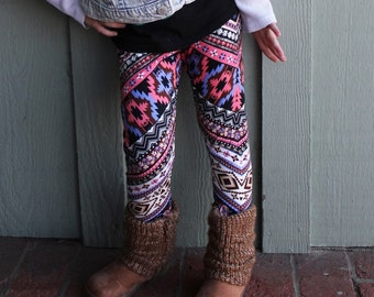 Infant and Toddler - Boys and Girls Aztec Print Jersey Knit Leggings / Pants
