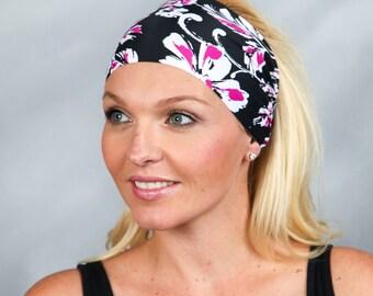 Black Headband Running Headband Extra Wide Workout Headband Fitness Headband Boho Headband Fashion Headband Women Head Wrap Turban Headband