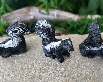 Miniature Skunks - Set of 3