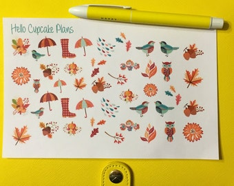 Beautiful Fall Planner Stickers