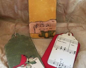Primitive Christmas Tags