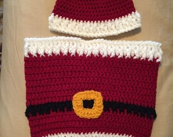 Santa Cocoon & Hat  Set