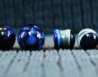 Glass Gauged Plug Earrings