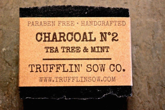 Activated Charcoal Natural Soap from Etsy shop