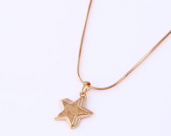 Gold Filled Star Pendant 16x17mm