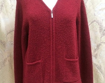 Vintage 1980s Red Knit Sweater by Crazy Horse/Liz Claiborne